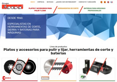 New website of Grupo Acacio